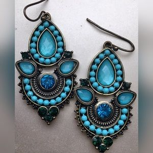 Vintage Style Turquoise Blue Earrings